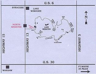 indiana lake resort - map